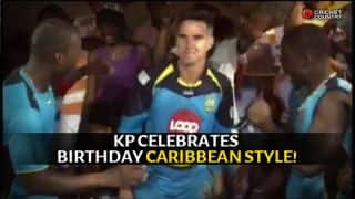 Video: Kevin Pietersen celebrates his birthday during CPL 2015 with St Lucia Zouks