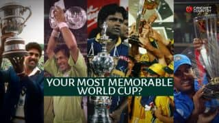 Polls: Which is your most memorable Cricket World Cup?