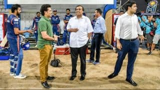 Tendulkar, Ambani visit MI training camp ahead of opening game against CSK