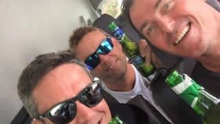 Photo: Damien Martyn, Kevin Pietersen, Jacques Kallis chilling out in South Africa
