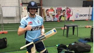 Australian batsman Steve Smith returns to the Nets