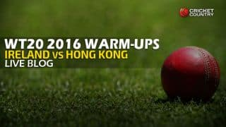IRE 122/0 in 12.2 overs   Live Cricket Score Ireland vs Hong Kong, ICC World T20 2016, IRE vs HK Warm-up T20 Match at Dharamsala: Ireland thrash Hong Kong by 10 wickets