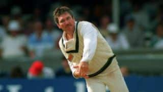 Allan Border takes 4 wickets in 9 balls without conceding a run