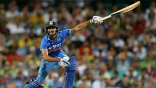Manish Pandey fined for showing dissent at umpire's decision