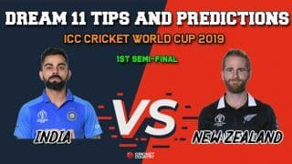 IND vs NZ Dream11 Prediction, Cricket World Cup 2019, 1st semi-final: Best Playing XI Players to Pick for Today's Match between India and New Zealand at 3 PM