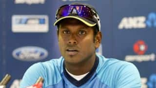 Angelo Mathews blames poor batting for loss in 1st test against England