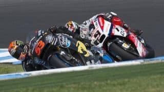 Pecco Bagnaia claims maiden win in Moto3 class
