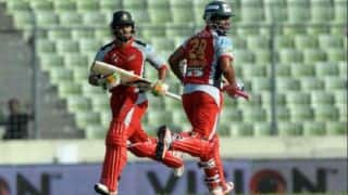 CV 142/5 in overs 19.4, Live Cricket Score, Comilla Victorians vs Chittagong Vikings, Bangladesh Premier League (BPL) 2015 Match 20 at Chittagong: Shehzad goes for 37