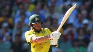 Aaron Finch makes 50th ODI appearance during 3rd ODI between England and Australia in Manchester