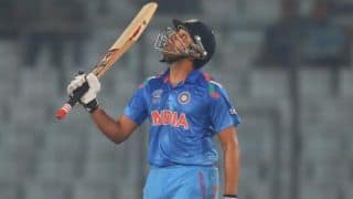 Rohit Sharma reaches fifty for India against England in 2nd ODI