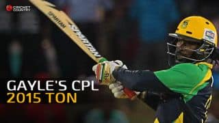Video: Chris Gayle's CPL 2015 ton for Jamaica Tallawahs against T&T Steel