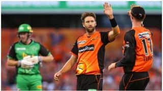 Big Bash League, 2017-18: Perth Scorchers beat Melbourne Stars by 13 runs, Andrew Tye takes 5 wickets