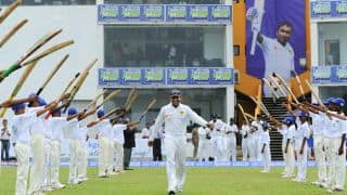 Mahela Jayawardene gets Guard of Honour in his final Test at Galle