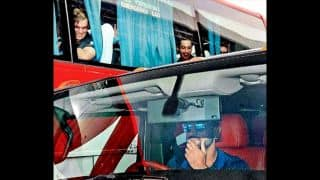 PHOTO: MS Dhoni takes hummer from Ranchi airport; drives New Zealand players crazy