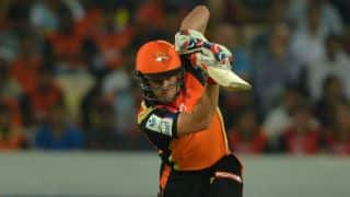Moises Henriques scores rapid fifty to put Sunrisers Hyderabad in drivers seat in Match 52 of IPL 2015