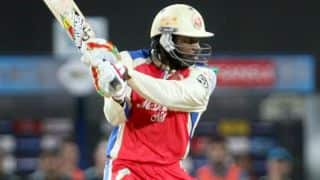 Gayle, Kohli fall early for RCB against KXIP