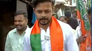 S Sreesanth starts polling campaign for BJP in Thiruvananthapuram