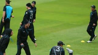 New Zealand practice before taking on India in second Test at Wellington