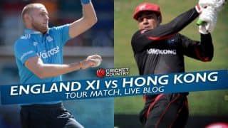 HK 165/7 in Ovs 34 | Live Cricket Score, England XI vs Hong Kong 2015 tour match at Abu Dhabi: ENG XI won by 169 runs
