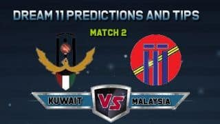 Dream11 Team Kuwait vs Malaysia Match 2  ICC MEN'S  WORLD CUP ASIA REGION FINAL – Cricket Prediction Tips For Today's  Match KUW vs MAL at Singapore