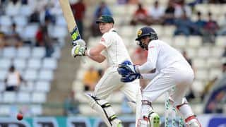 Australia 141 for 7 at Lunch on Day 5 of 1st Test  vs SL