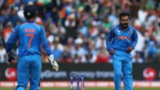 ICC Champions Trophy 2017: Kedar Jadhav credits MS Dhoni for his bowling success against Bangladesh