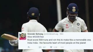 Gautam Gambhir, Virender Sehwag and others tweet on India's 500th Test