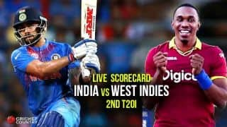 India Vs West Indies 2nd T20 2016 LIVE Score updates & ball by ball commentary