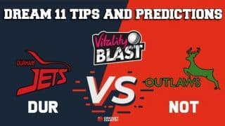 Dream11 Team Durham vs Nottinghamshire North Group VITALITY T20 BLAST ENGLISH T20 BLAST – Cricket Prediction Tips For Today's T20 Match DUR vs NOT at Chester-le-Street