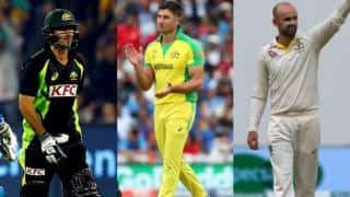 Australia's T20 and ODI squad for England tour; Glenn Maxwell, Nathan Lyon and Marcus Stoinis back