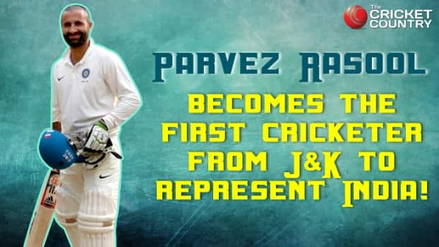 Parvez Rasool becomes the first cricketer from Jammu & Kashmir to represent India