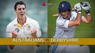 Live Cricket Score Australians vs Derbyshire, Tour Match at Derby, STUMPS Day 2: Derbyshire 81/2 in 29 overs, trail by 332 runs
