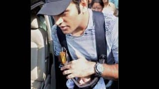 Photos: MS Dhoni spotted with his daughter at Ranchi airport
