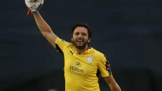 Shahid Afridi's maiden T20 ton steers Hampshire to semi-final of T20 Blast 2017