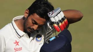 India vs Australia 2014-15, 3rd Test in Melbourne: KL Rahul dismissed by Mitchell Johnson