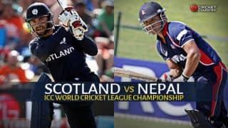 Live Cricket Score, Scotland vs Nepal at Ayr, ICC World Cricket League Championship: Scotland beat Nepal by 3 runs