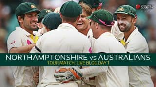 Live Cricket Score Northamptonshire v Australians tour match at Northampton, Day 1: Rain delays start of play