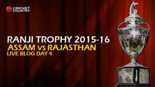 Live Cricket Score, Assam vs Rajasthan, Ranji Trophy 2015-16, Group A match, Day 4 at Guwahati: Assam win by an innings and 152 runs