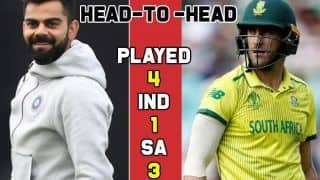 IND vs SA, Cricket World Cup 2019: Who will win today's India vs South Africa match – match predictions, playing 11s and head to head