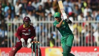West Indies set 283 from 44 overs after Babar Azam's hundred