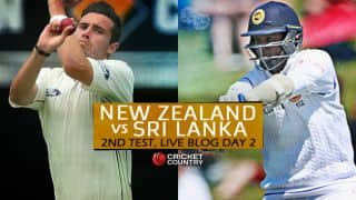 NZ 232/9 | Live Cricket Score, New Zealand vs Sri Lanka 2015-16, 2nd Test, Day 2 at Hamilton: At stumps, NZ trail by 60 runs