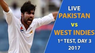 Live Cricket Score, Pakistan vs West Indies, 1st Test, Day 3: Stumps