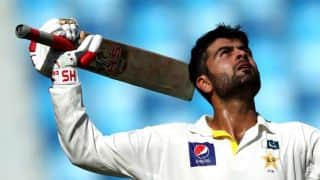 Ahmed Shehzad's century guides Pakistan to 269/1 against New Zealand at Stumps on Day 1 of 1st Test at Abu Dhabi