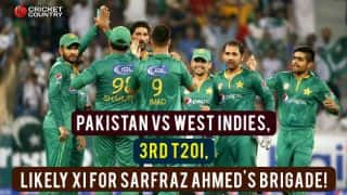 PAK vs WI, 3rd T20I: Likely XI for Sarfraz Ahmed & Co