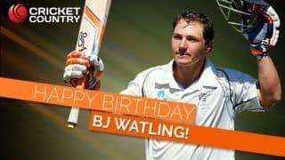 New Zealand wicketkeeper-batsman BJ Watling turns 31