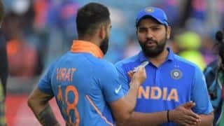 Trying to stay in the present: Rohit tells Virat after notching up fifth ton in World Cup 2019