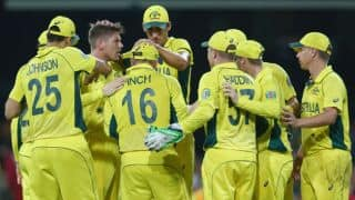 Australia vs Sri Lanka ICC Cricket World Cup 2015 Pool A match at Sydney
