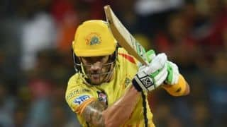 IPL 2018, Qualifier 1: Fleming reveals Faf played due to Billings' injury