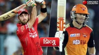 Kings XI Punjab (KXIP) vs Sunrisers Hyderabad (SRH) IPL 2017, Match 33, Preview and likely XI: SRH look to get back to winning ways
