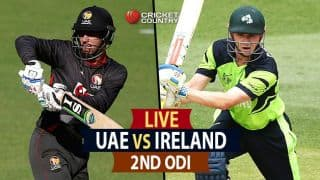 Live Cricket Score UAE vs Ireland, 2nd ODI at Dubai: IRE wins the match by 8 wickets